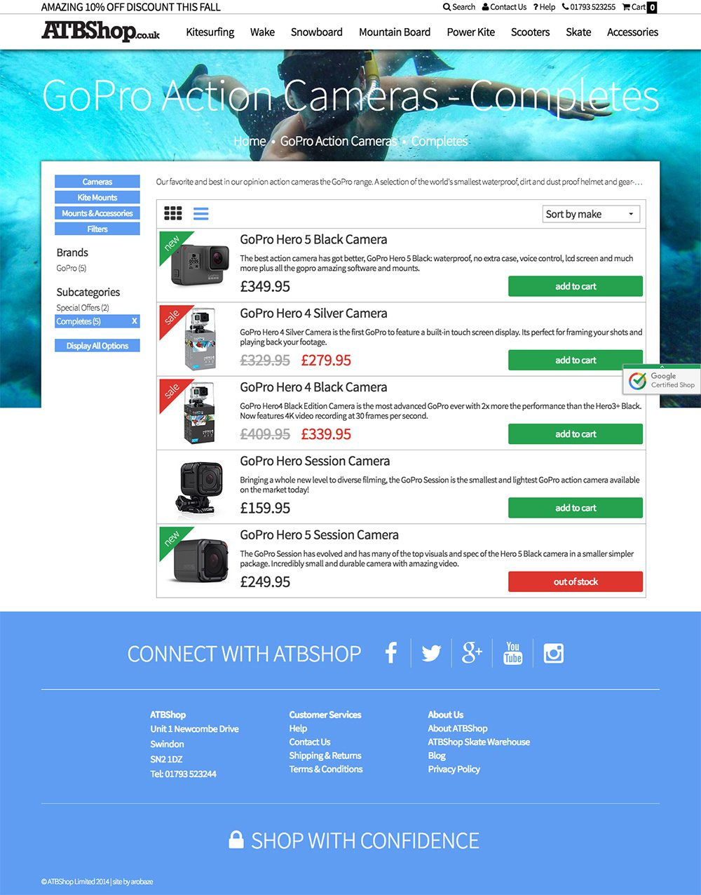 ATBShop Website from Practically.io Experts in web design and development