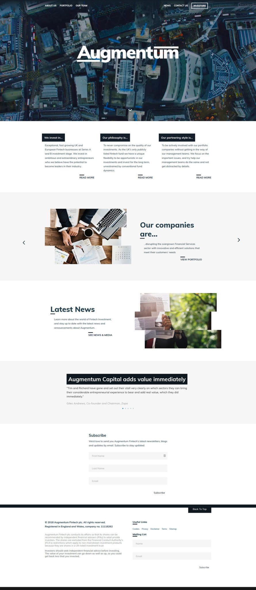Augmentum website by Practically.io - Experts in web design and development
