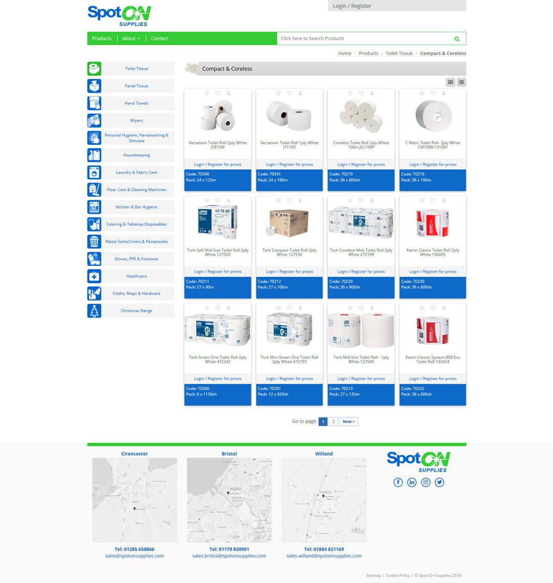 Spot On website by Practically.io - Experts in web design and development