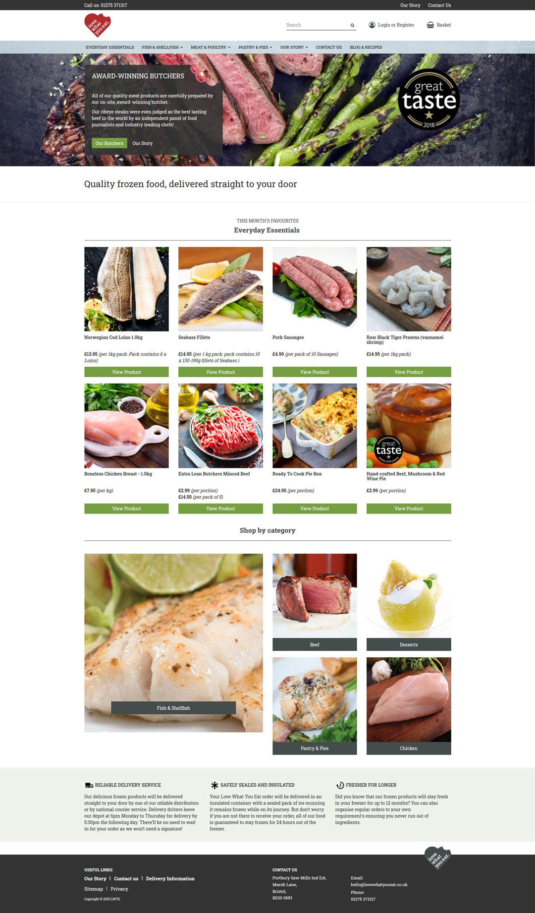 Love what you eat Website & e-shop by Practically.io - Experts in web design and development